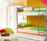 emeletes ágy szekrénnyel