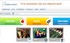 gamecenter webaruhaz